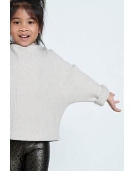 Beige knitted bat blouse