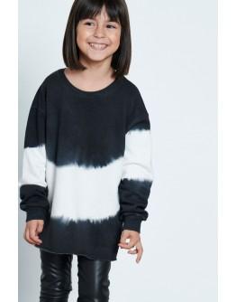 Sweatshirt tie dye black and white