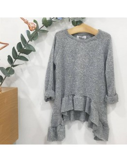 Blouse grey with rufless