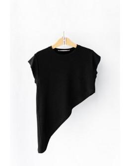 Asymmetrical flame blouse