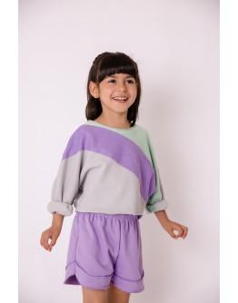 Baby sweatshirt tricolor