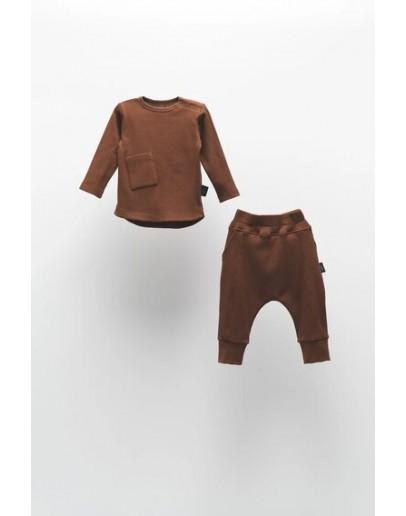Brown uniform set with MOI NOI pocket