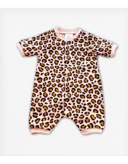 Tiny Toes Ολόσωμο Φορμάκι Leopard Pink