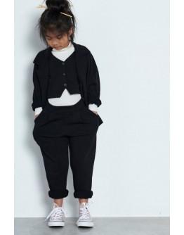 Pants with pleats black