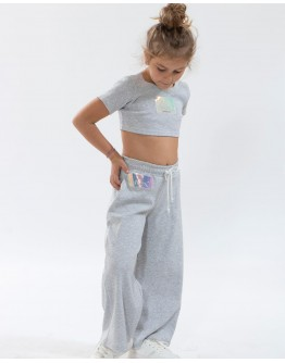 Crop top rip set with trouser