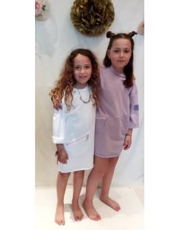 Dress with pocket zipper