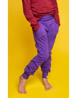 TROUSERS FOR THE WHOLE YEAR - VIOLET