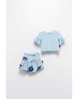 MOI NOI skirt blouse set